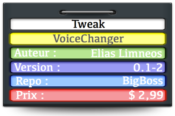 Pancarte VoiceChanger