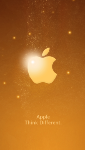 Wallpaper iphone 5s Gold2