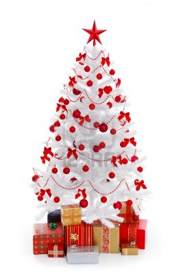 8922919-white-christmas-tree-with-presents-and-red-decoration-isolated-on-white